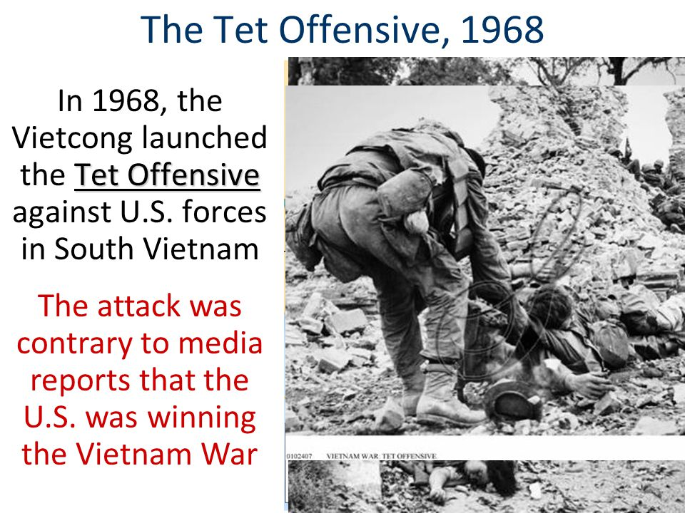 The Tet Offensive, 1968 Tet Offensive The Tet Offensive was a turning point in the Vietnam War President Johnson began to question whether the war could be won… …& LBJ announced that he would not seek re-election Johnson's War American attitudes towards the war changed & anti-war movement grew