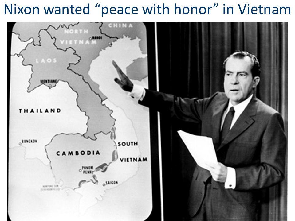 Vietnamization Nixon & National Security Advisor Henry Kissinger developed a plan called Vietnamization: gradually withdraw U.S.