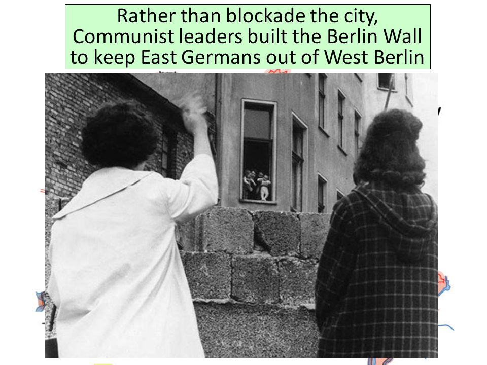 Rather than blockade the city, Communist leaders built the Berlin Wall to keep East Germans out of West Berlin