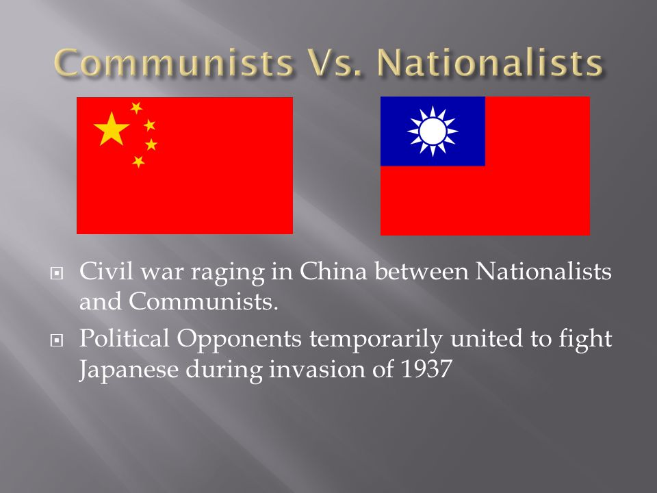 Communist Leader in China Communists had a stronghold in NW China.