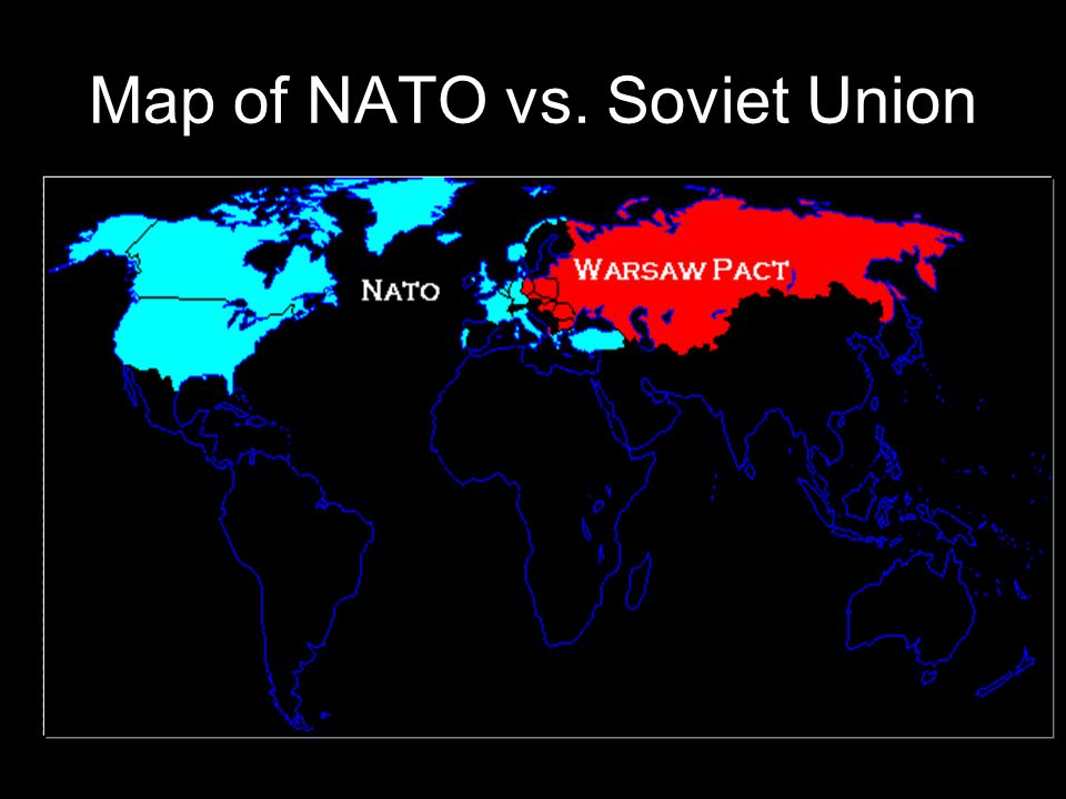 Map of NATO vs. Soviet Union