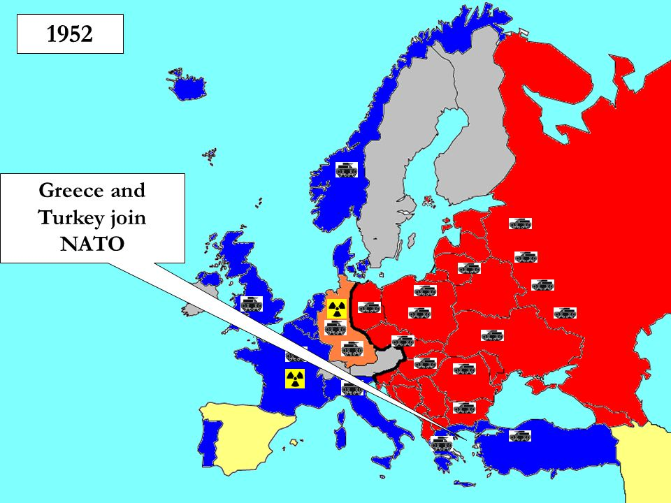 1952 Greece and Turkey join NATO