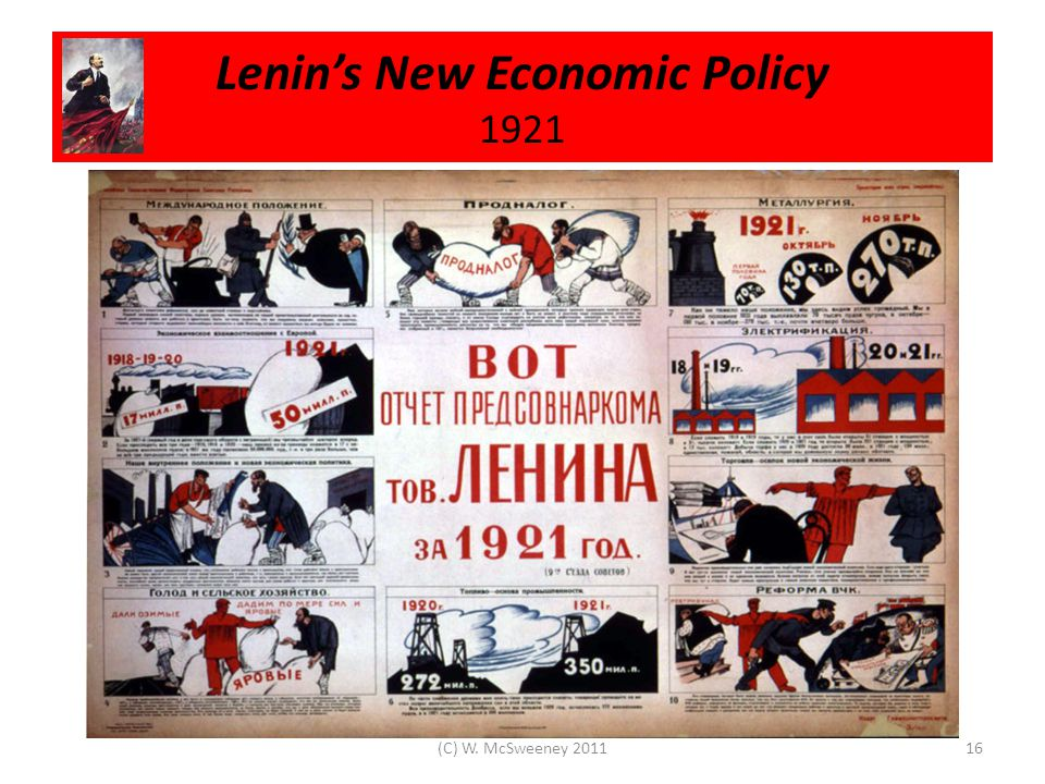 Lenin's New Economic Policy 1921 16(C) W. McSweeney 2011