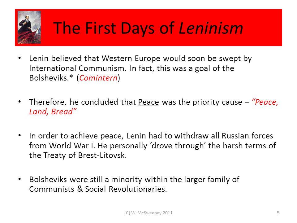 Lenin's New Economic Policy 1921 16(C) W. McSweeney 2011