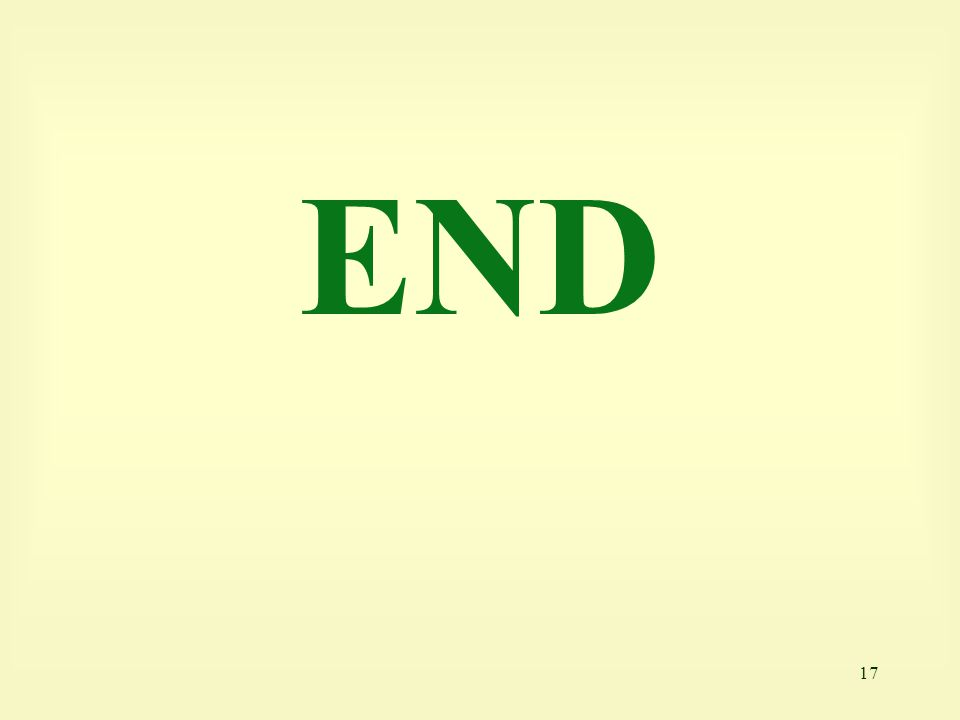 17 END