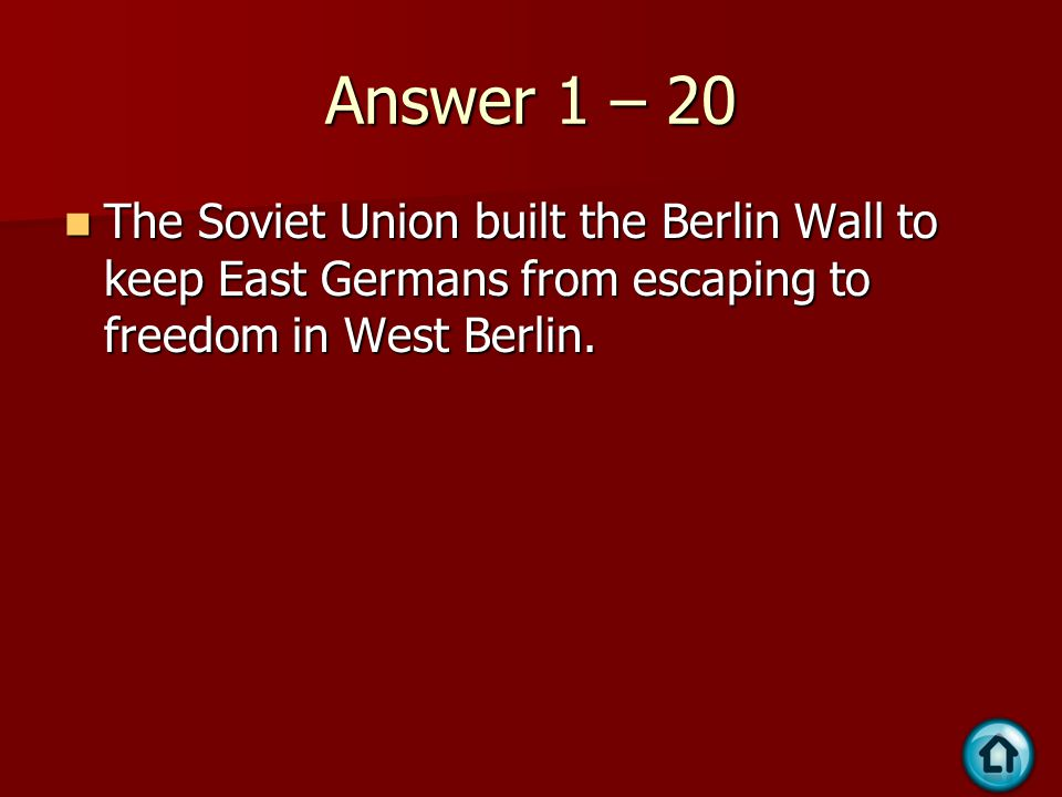 Question 5 - 30 Communist leader of the Vietminh who fought to gain independence and then reunify Vietnam under communism.