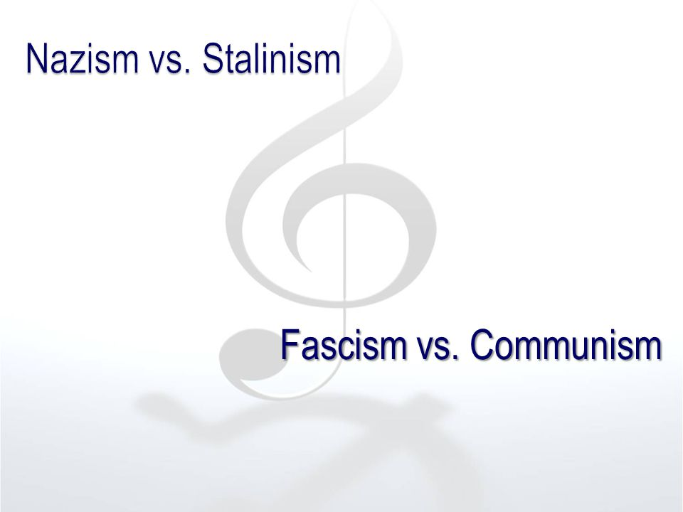 Fascism vs. Communism