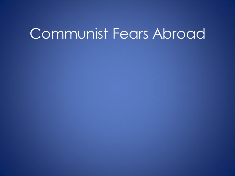 Communist Fears Abroad