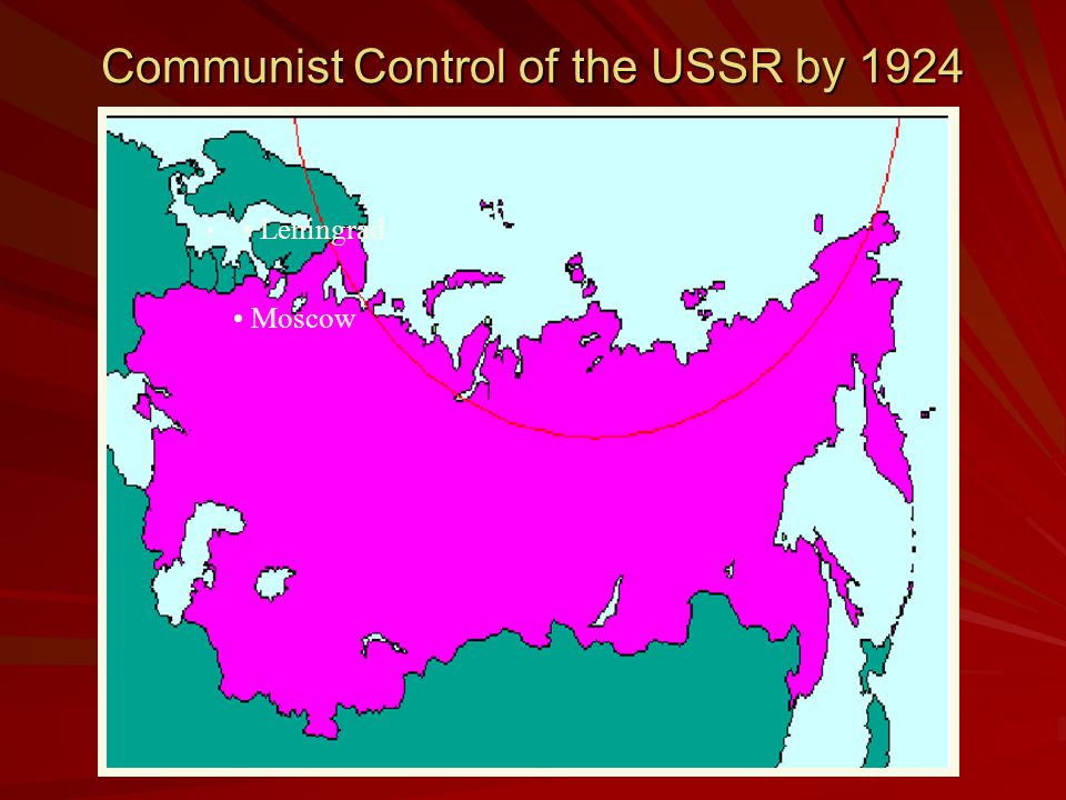 Civil War Ends By 1921, Communists defeated scattered foes Lenin now faced a chaotic nation of famine, millions dead and an economy in ruins