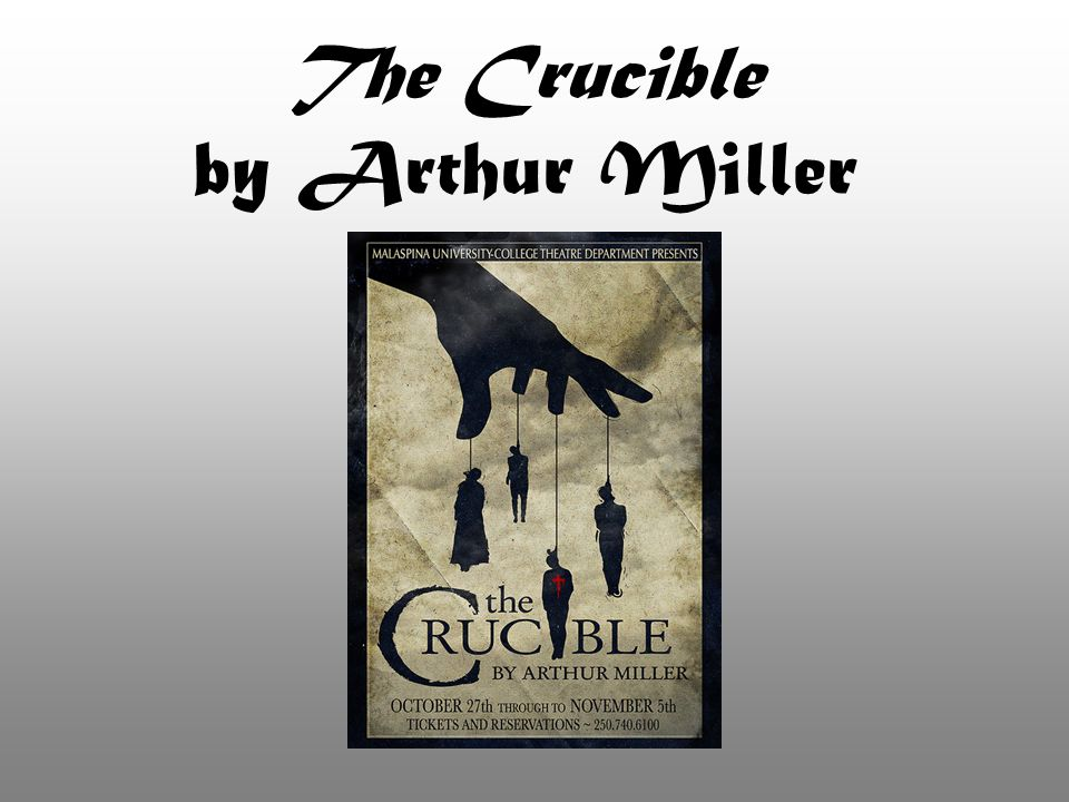 About the Author: Arthur Miller Born in NYC in 1915 Career as a playwright began while he was a student at the University of Michigan Married to Marilyn Monroe (1956-61) Several early works won awards –All My Sons, 1947 –Death of a Salesman, 1949 (Pulitzer Prize) Death of a Salesman was described by critics as the first great American tragedy Miller gained a reputation as a man who understood the deep essence of the United States