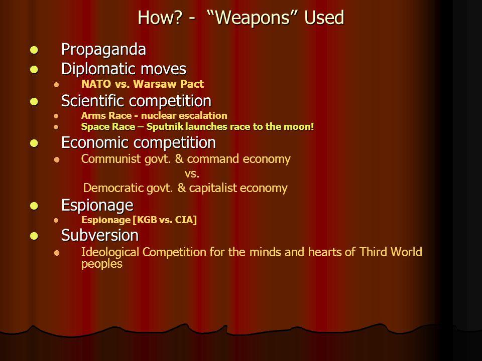 How. - Weapons Used Propaganda Propaganda Diplomatic moves Diplomatic moves NATO vs.