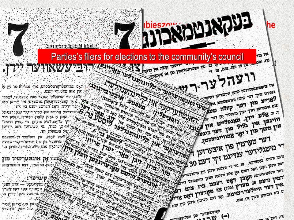Agudat Israel members in Hrubieszow Agudat Israel was a modern party.