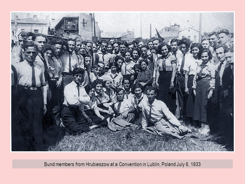 Bund members from Hrubieszow at a Convention in Lublin, Poland July 6, 1933