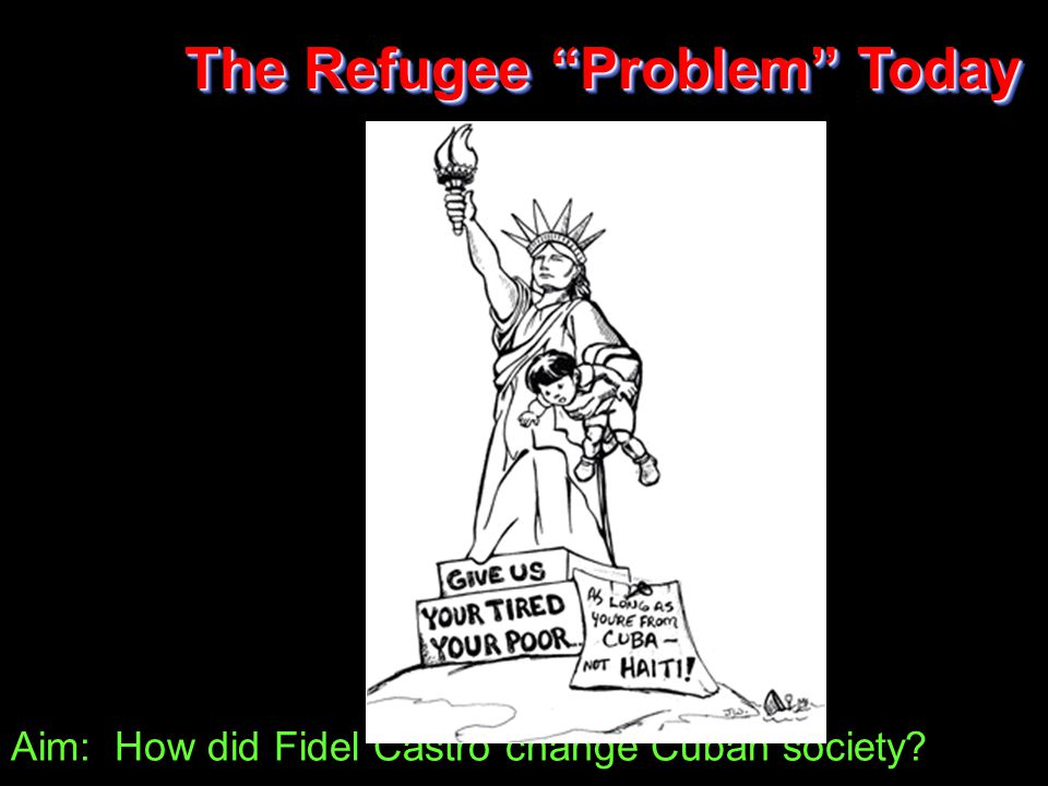 Aim: How did Fidel Castro change Cuban society The Refugee Problem Today