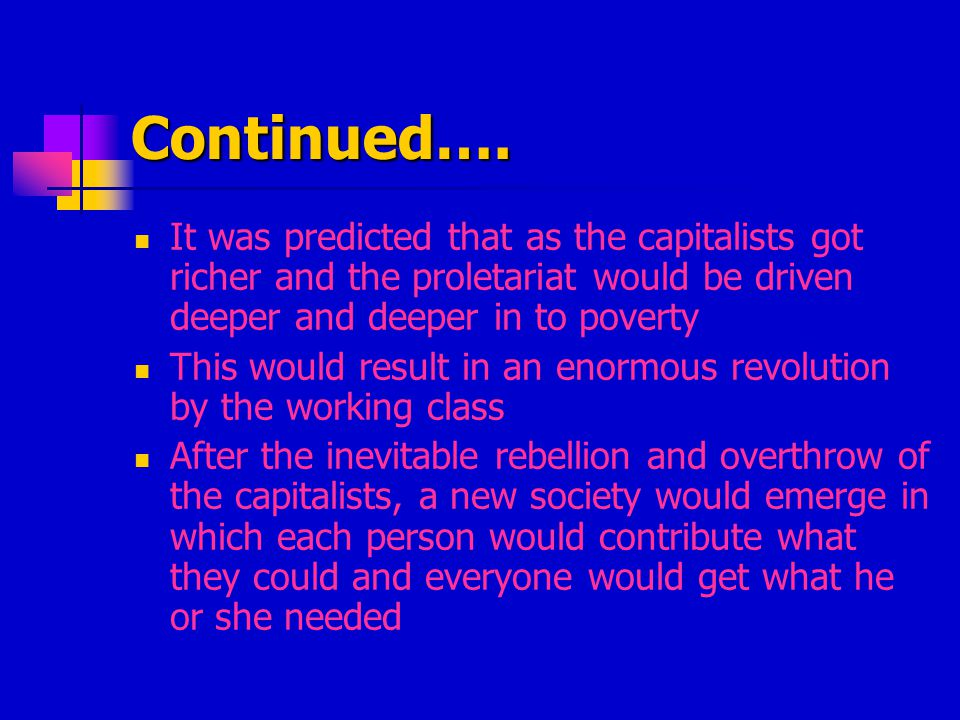 Variation of Socialism The theories of Marx about overthrowing capitalism and establishing a government that regulates all aspects of the economy is called communism Another socialist group believed the same effect of equality could happen gradually and without violence by means of democratic socialism.