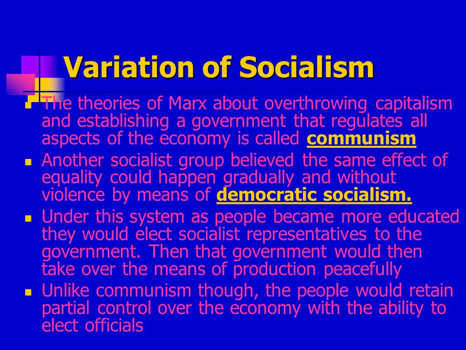 Review Questions What are the capital and equipment used to produce and exchange goods In socialism who owns the means of production and who shares in profits.