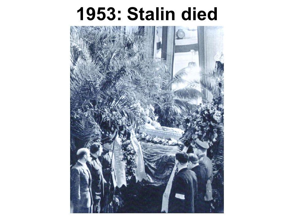 1953: Stalin died