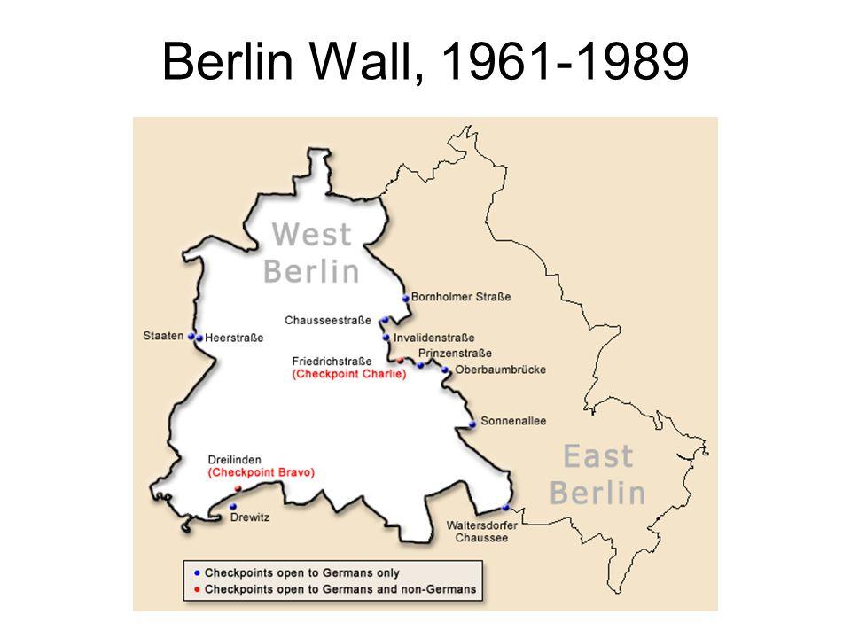 Berlin Wall, 1961-1989