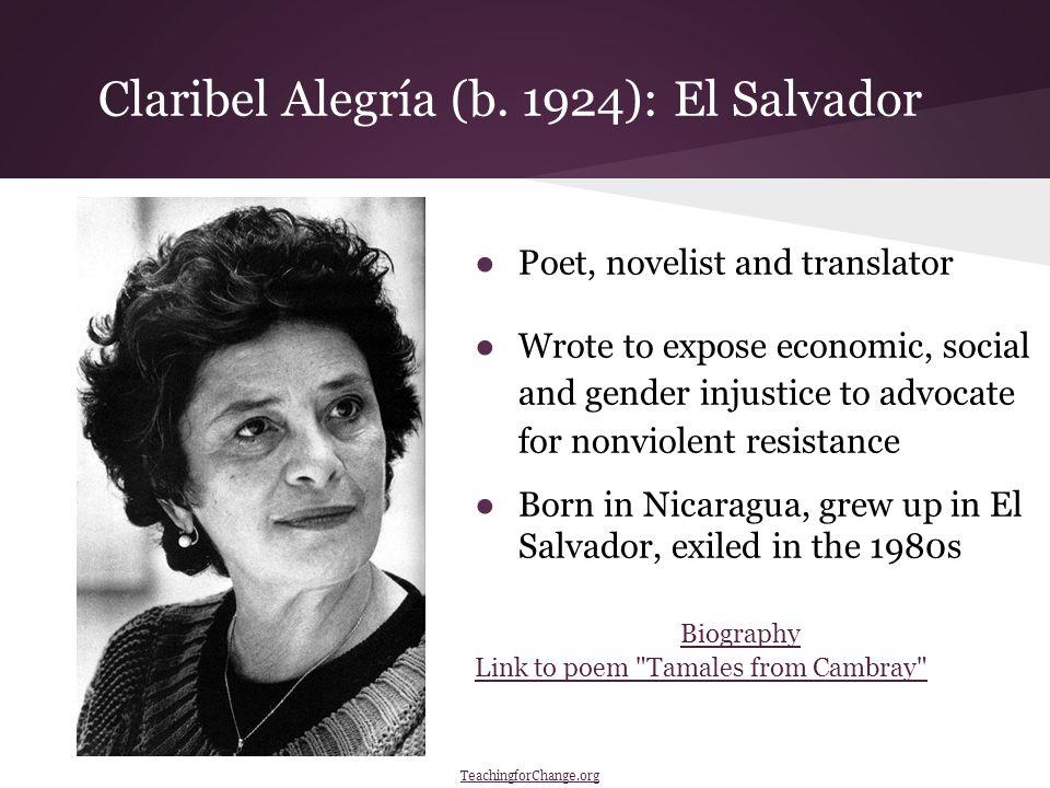 Claribel Alegría (b.