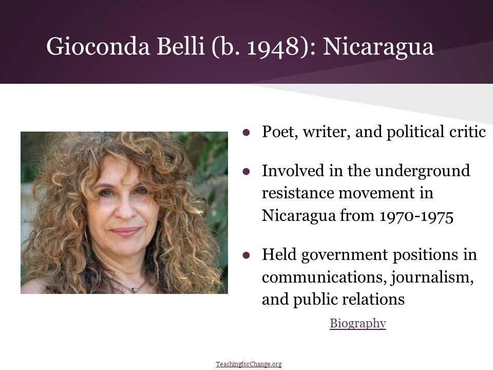 Gioconda Belli (b.