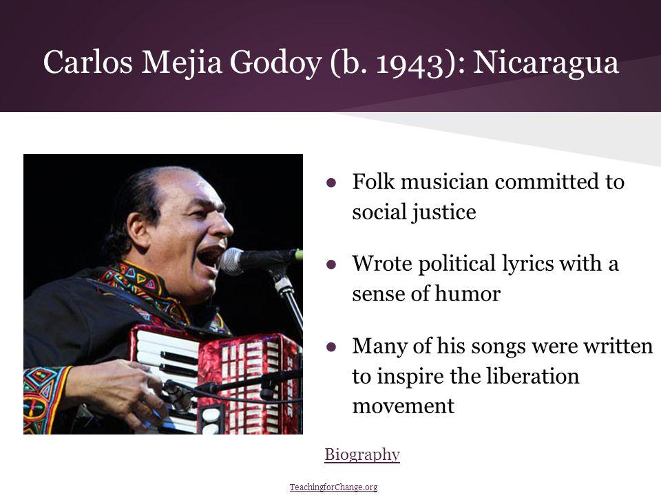 Carlos Mejia Godoy (b.