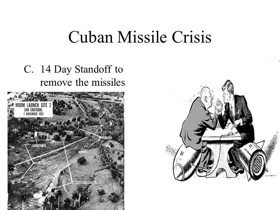Cuban Missile Crisis C.14 Day Standoff to remove the missiles