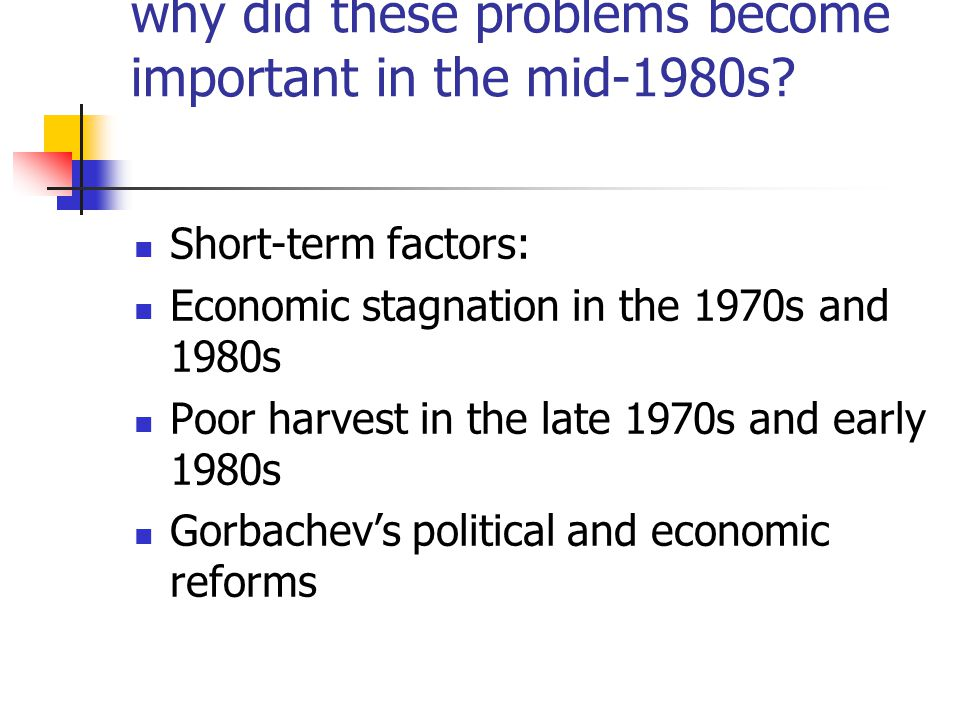 why did these problems become important in the mid-1980s.