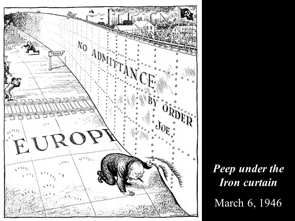 Peep under the Iron curtain March 6, 1946