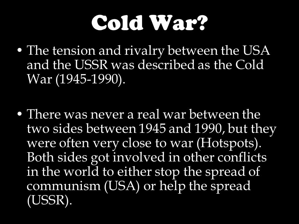 Cold War.