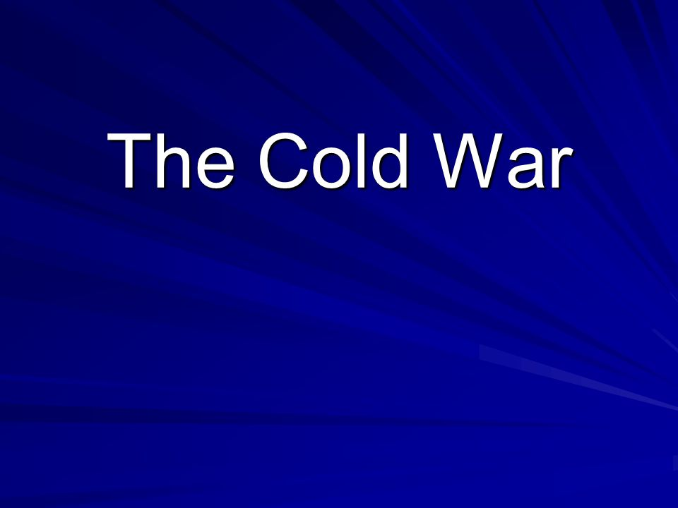 After WWII, there was a new kind of war Countries fought this war with words and ideas, not weapons Even though the Soviet Union and the US worked together in WWII, their beliefs later drove them apart- this was known as the Cold War