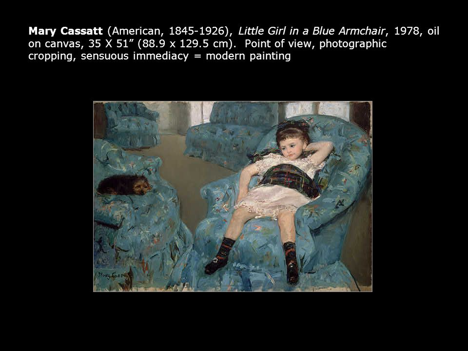 Mary Cassatt (American, 1845-1926), Little Girl in a Blue Armchair, 1978, oil on canvas, 35 X 51 (88.9 x 129.5 cm).