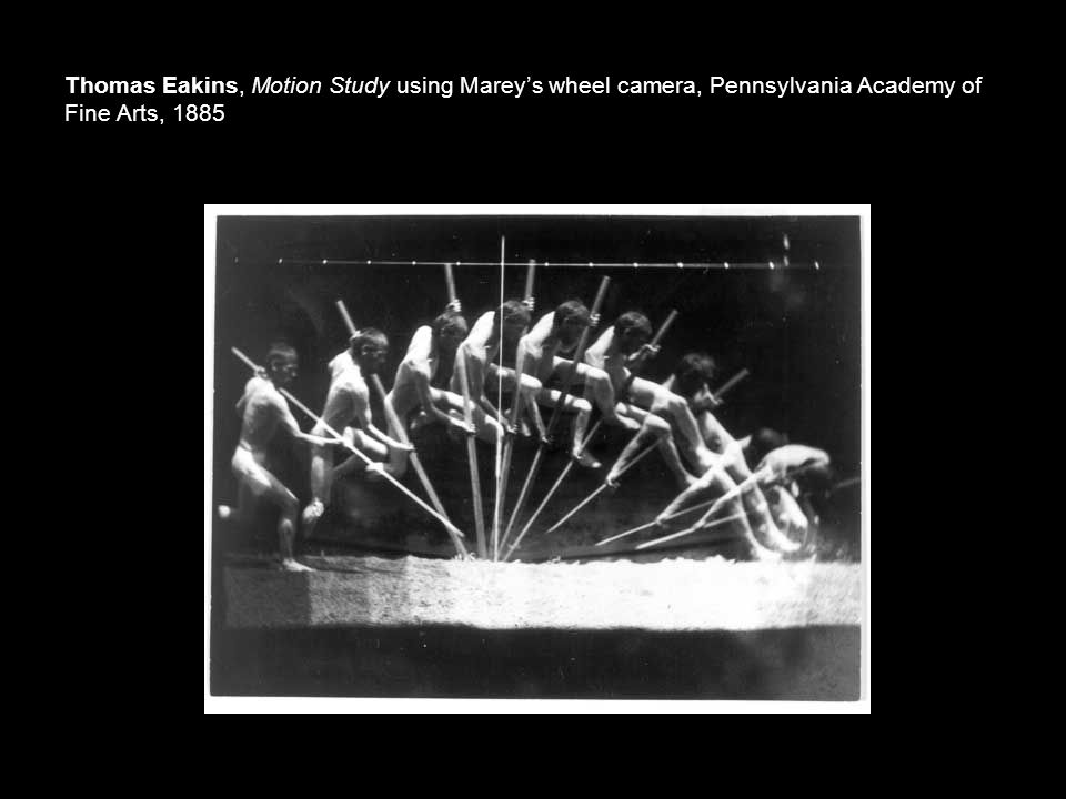 Thomas Eakins, Motion Study using Marey's wheel camera, Pennsylvania Academy of Fine Arts, 1885