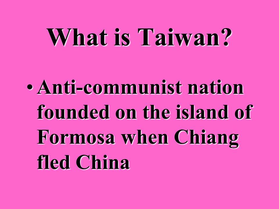Who was the anti- communist Chinese leader? Chiang Kai-shekChiang Kai-shek