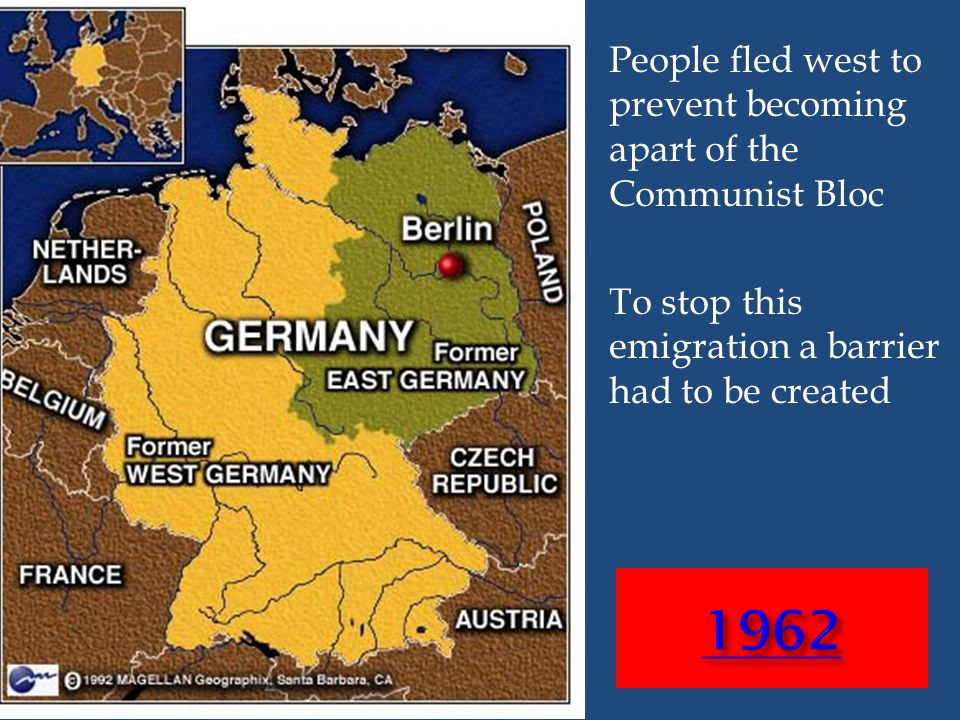 People fled west to prevent becoming apart of the Communist Bloc To stop this emigration a barrier had to be created
