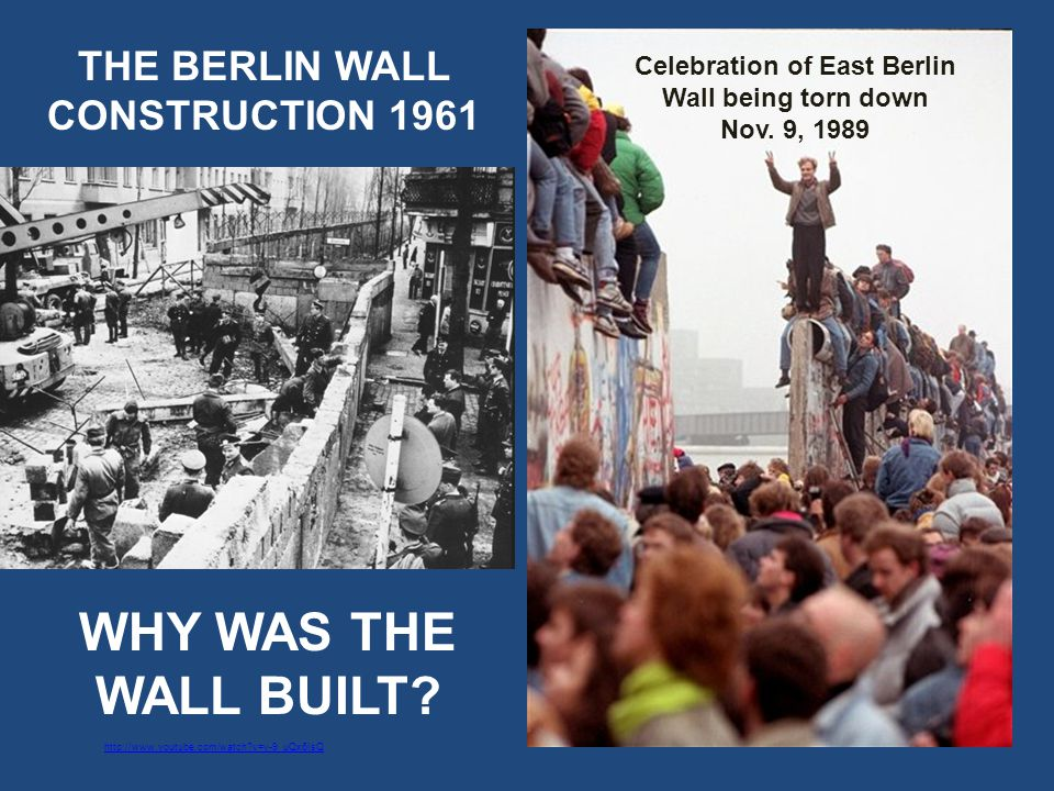 Celebration of East Berlin Wall being torn down Nov.