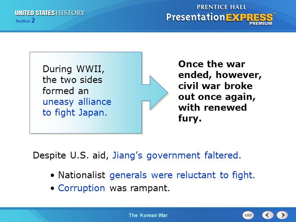 The Cold War BeginsThe Korean War Section 2 The U.S.