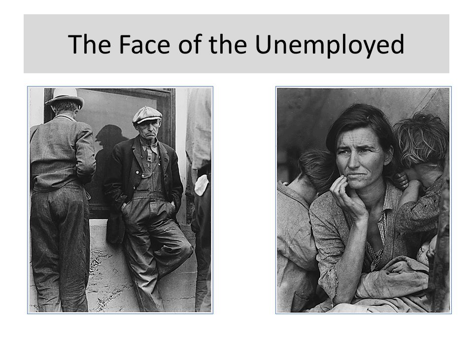 The Face of the Unemployed