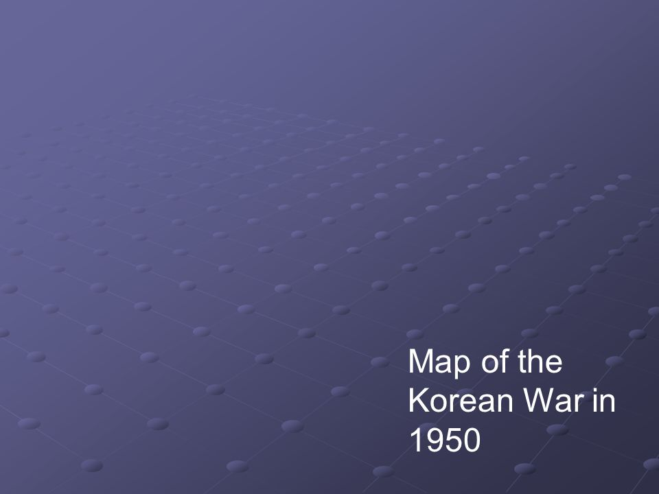 Map of the Korean War in 1950