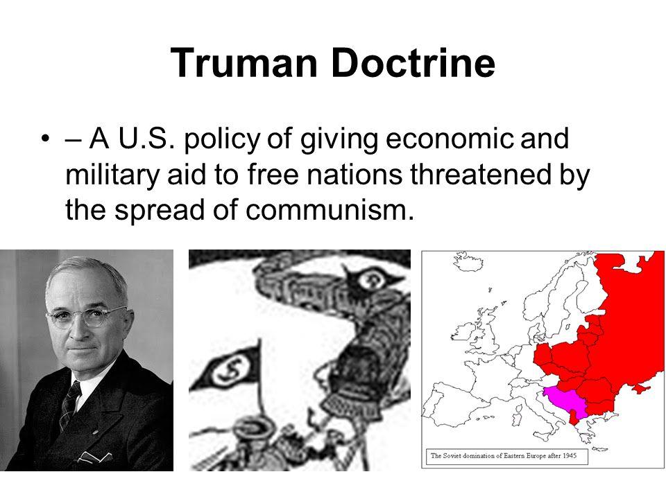Marshall Plan – a U.S.