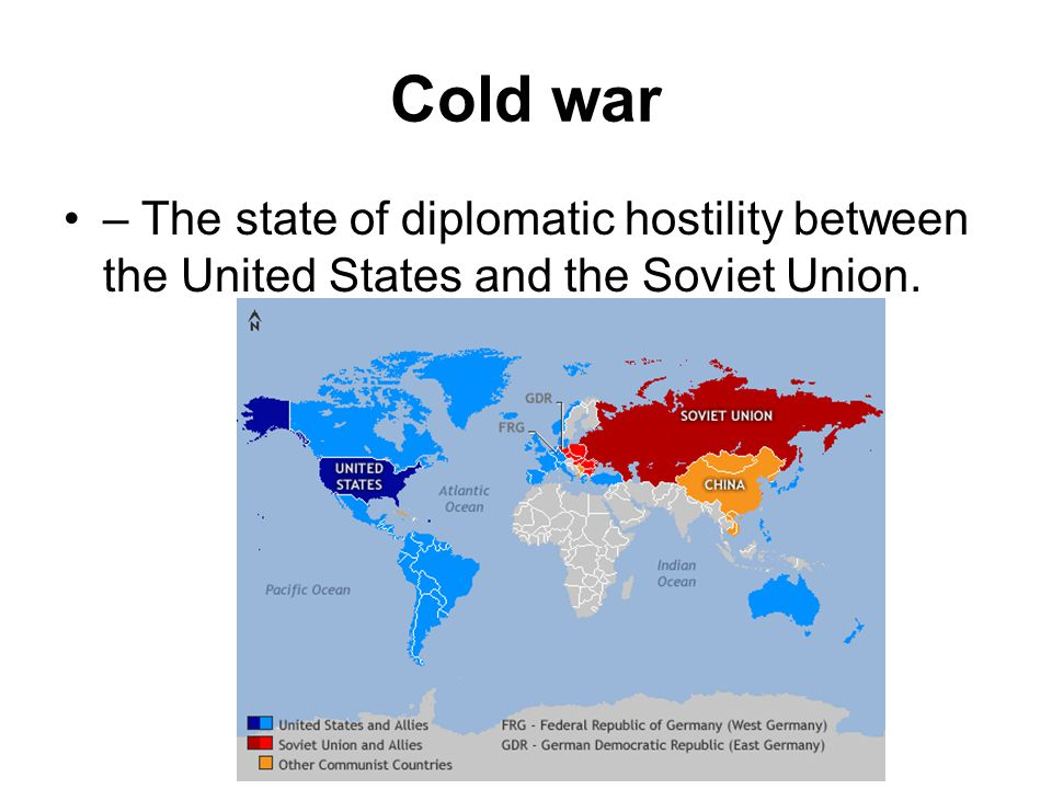 NATO – The North Atlantic Treaty organization – a defensive military alliance formed in 1949 by the U.S., Canada and ten Western European nations to stop the spread of Soviet Power in Europe.