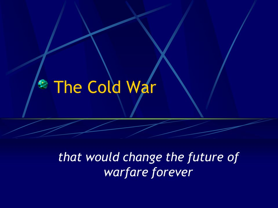 The Cold War that would change the future of warfare forever