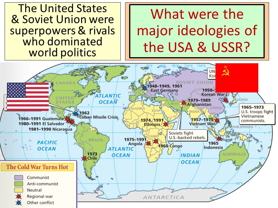 From 1945 to 1991, the United States & Soviet Union entered an era of distrust & hostility known as the Cold War The most important change in U.S. for