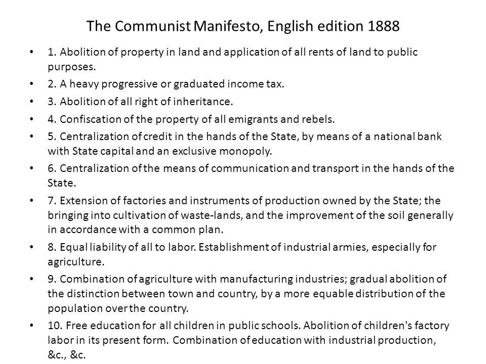 The Communist Manifesto, English edition 1888 1.