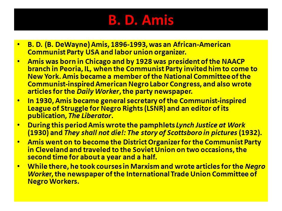 B. D. Amis B. D. (B.