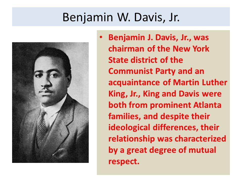 Benjamin W.Davis, Jr. A graduate of Amherst College, Davis, Jr.