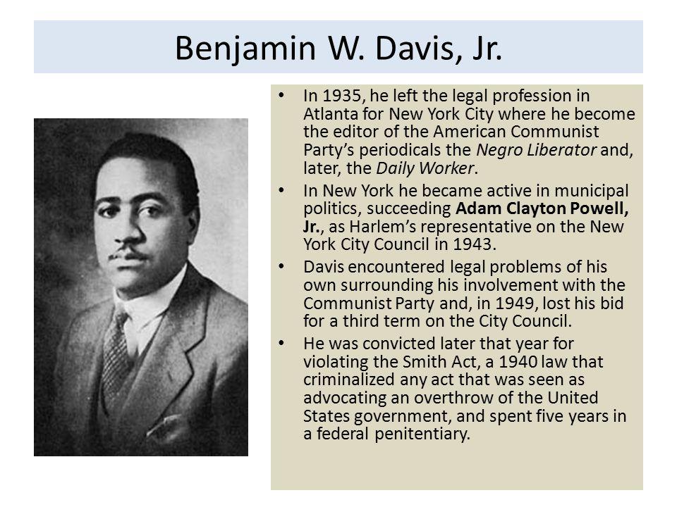 Benjamin W. Davis, Jr.