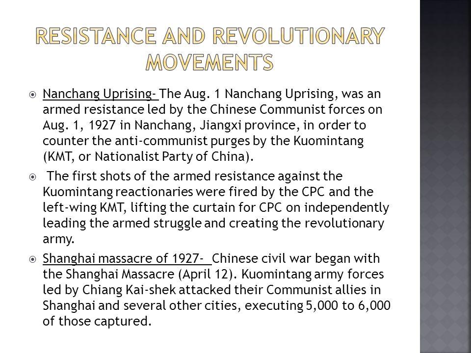  Nanchang Uprising- The Aug.