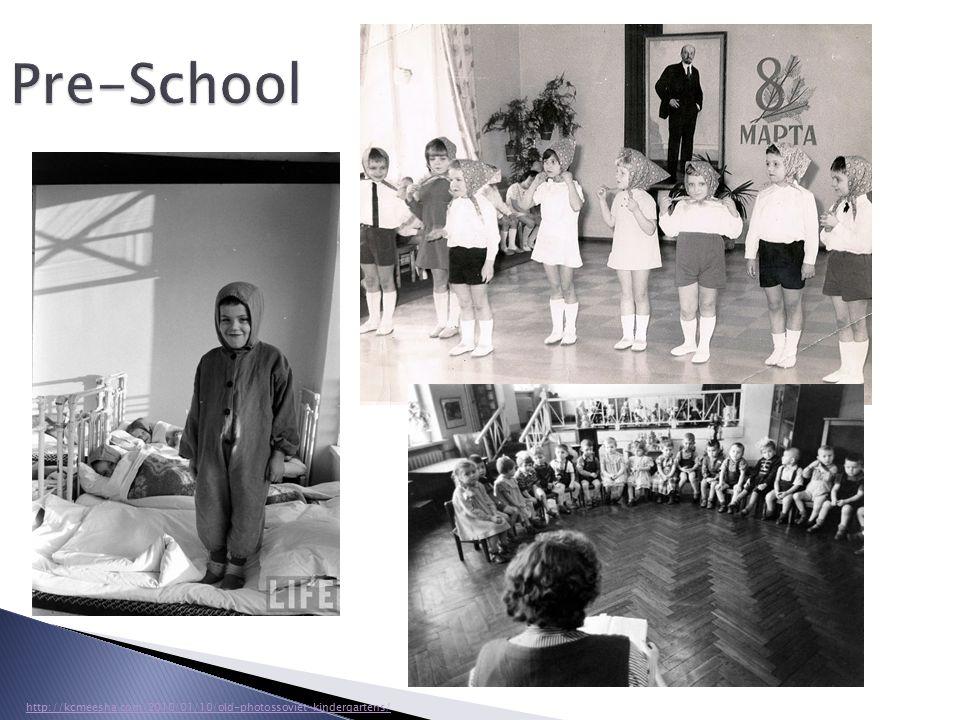 Pre-School http://kcmeesha.com/2010/01/10/old-photossoviet-kindergartens/