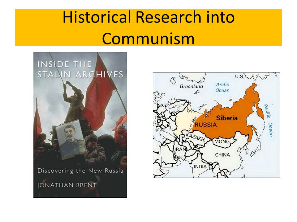 Historical Research into Communism