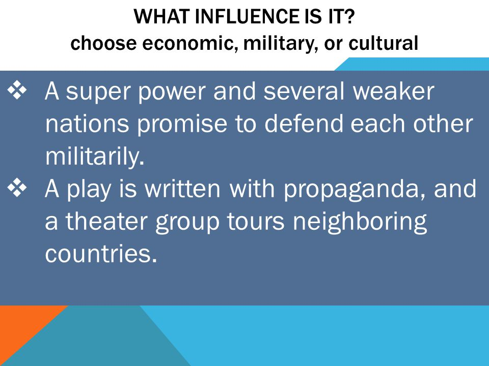 WHAT INFLUENCE IS IT.